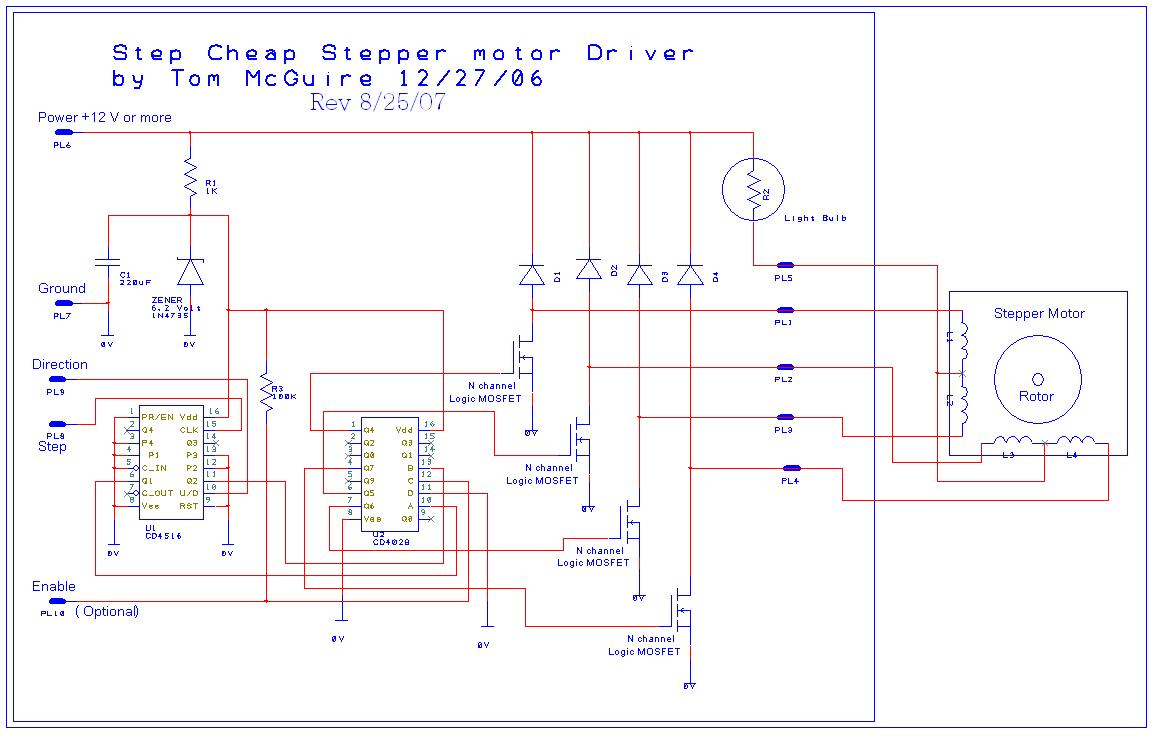 Toms Easy Cnc Mill Stepper Motor Driver
